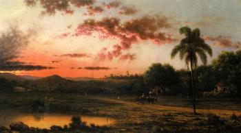 Martin Johnson Heade : Sunset, A Scene in Brazil
