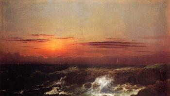 Martin Johnson Heade : Sunset at Sea