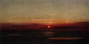 Martin Johnson Heade : Sunset of the Marshes