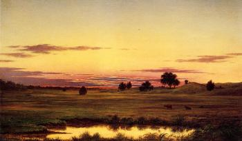 Martin Johnson Heade : Sunset, Rhode Island
