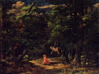 Martin Johnson Heade : The Swing, Children in the Woods
