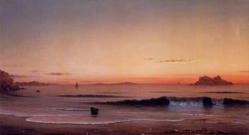 Martin Johnson Heade : Twilight, Singing Beach