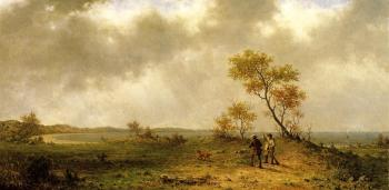 Martin Johnson Heade : Two Hunters in a Landscape