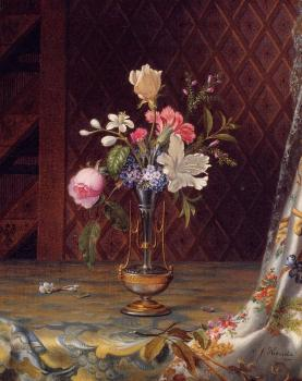 Martin Johnson Heade : Vase of Mixed Flowers