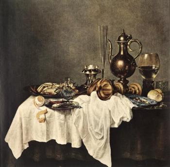 Willem Claesz Heda : Breakfast of Crab