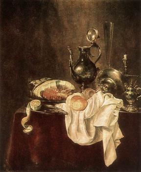Willem Claesz Heda : Ham and Silverware