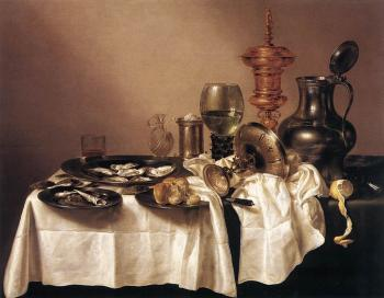 Willem Claesz Heda : Still-life with Gilt Goblet