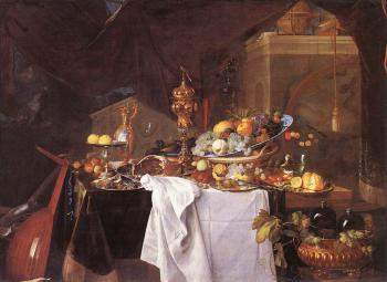 Jan Davidsz De Heem : A Table of Desserts