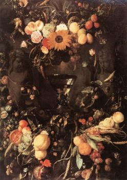 Jan Davidsz De Heem : Fruit and Flower Still-life