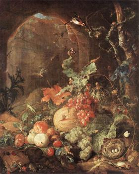 Jan Davidsz De Heem : Still-life with Bird-nest