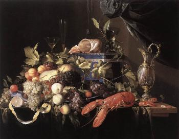 Jan Davidsz De Heem : Still-Life with Fruit and Lobster