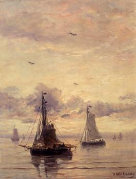 Hendrik Willem Mesdag : Evening Anchorage