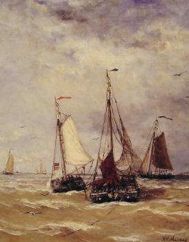 Hendrik Willem Mesdag : Preparations for Departure