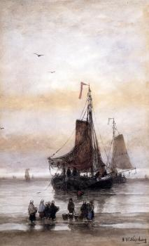 Hendrik Willem Mesdag : The Arrival Of The Fleet