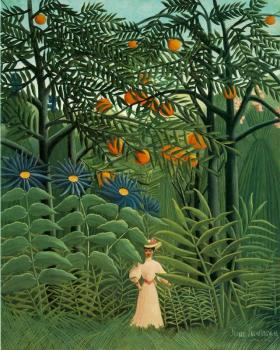 Henri Rousseau : Woman Walking in an Exotic Forest