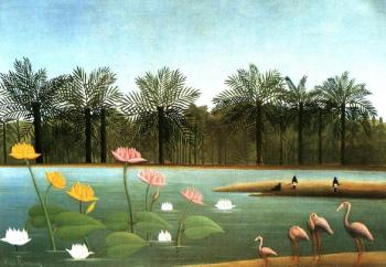 Henri Rousseau : The Flamingos