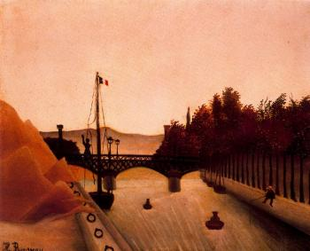 Henri Rousseau : Footbridge at Passy