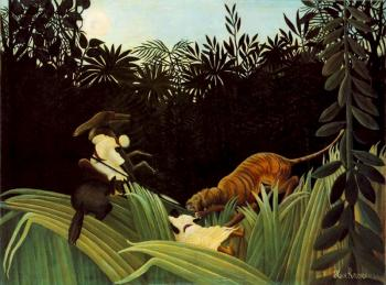 Henri Rousseau : Scout Attacked by a Tiger