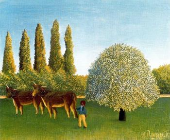 Henri Rousseau : In the Fields