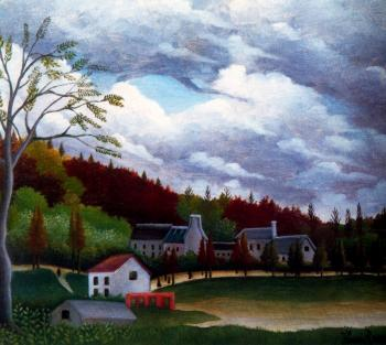 Henri Rousseau : View of Bievre-sur-Gentilly