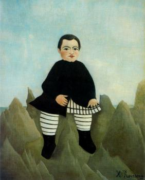 Henri Rousseau : Boy on the Rocks