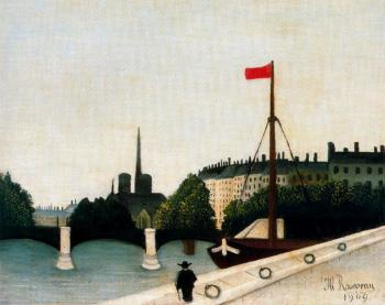 Notre Dame View of the Ile Saint Louis from the Quai Henri IV