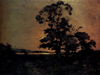 Henri-Joseph Harpignies : Moonlight On The Loire