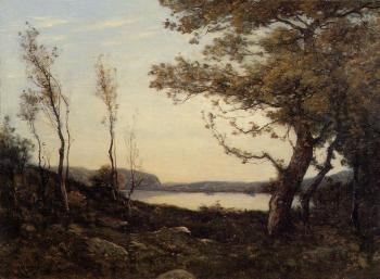 Henri-Joseph Harpignies : Landscape with Lake