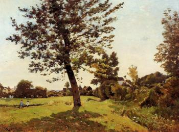 Henri-Joseph Harpignies : Meadow, Sunlight Effect
