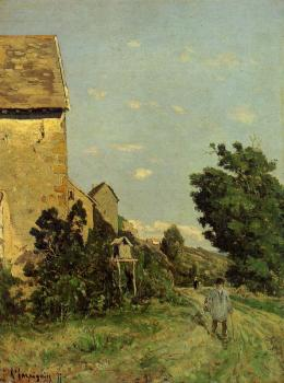 Henri-Joseph Harpignies : Path through a Normandy Village