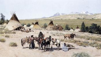 Henry Farny : Indian Encampment