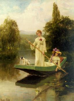 Two Ladies Punting On The River
