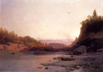 Herman Herzog : Evening on the Susquehanna