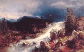 Herman Herzog : Landscape with Watermill