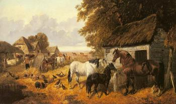 John Frederick Jr Herring : Bringing in the Hay