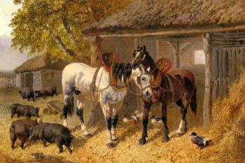 John Frederick Jr Herring : The Farmyard IV
