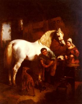 John Frederick Jr Herring : The Village Blacksmith