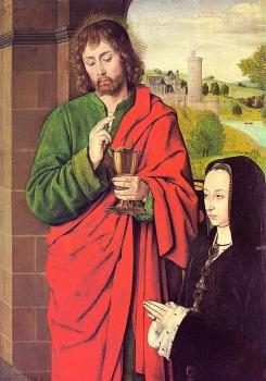 Jean Hey : Anne of France presented by Saint John the Evangelist