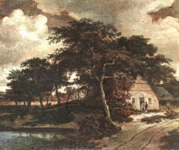 Meyndert Hobbema : Landscape with a Hut