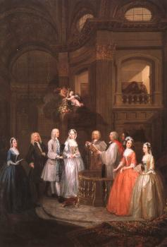 William Hogarth : The Wedding of Stephen Beckingham and Mary Cox