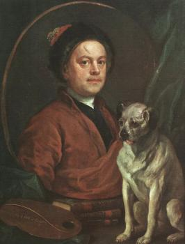 William Hogarth : The Painter and his Pug