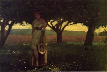 Girl in the Orchard