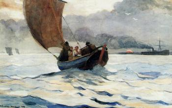 Winslow Homer : Returning Fishing Boats