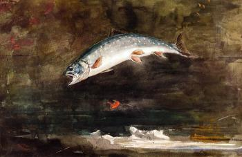 Winslow Homer : Jumping Trout