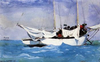 Winslow Homer : Key West, Hauling Anchor