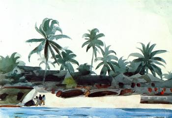 Negro Cabins and Palms