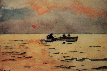 Winslow Homer : Rowing Home