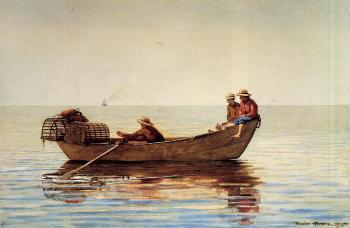 Three Boys in a Dory with Lobster Pots II
