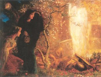 Arthur Hughes : He is Risen The First Easter