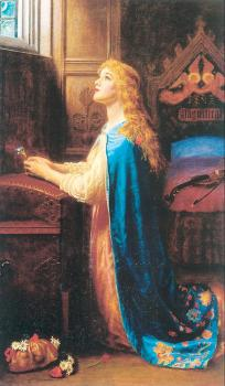 Arthur Hughes : Forget Me Not